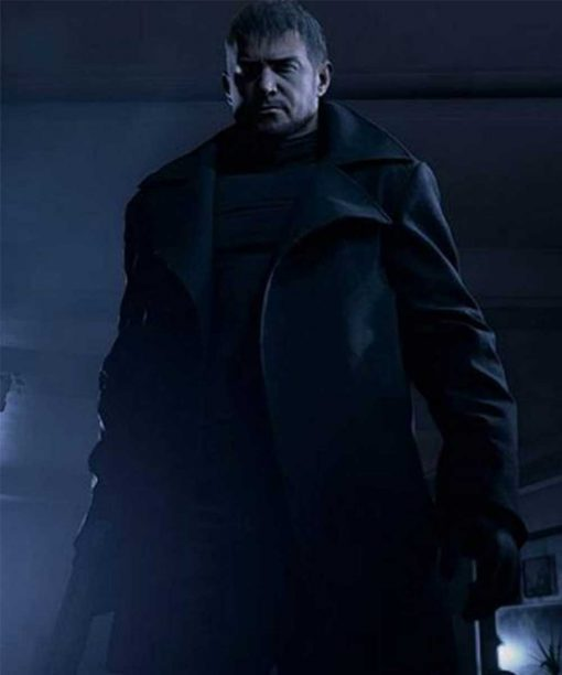 Resident Evil Village Black Trench Coat