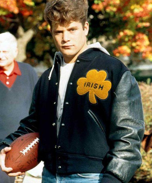 University Of Notre Dame Irish Rudy Letterman Jacket