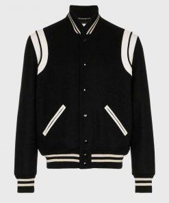 Trimmed Varsity Jacket
