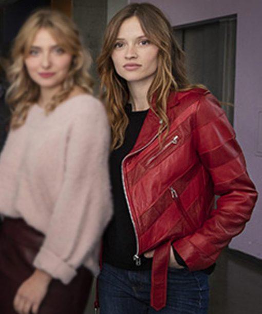 Marilyn Lima Skam France Leather Jacket