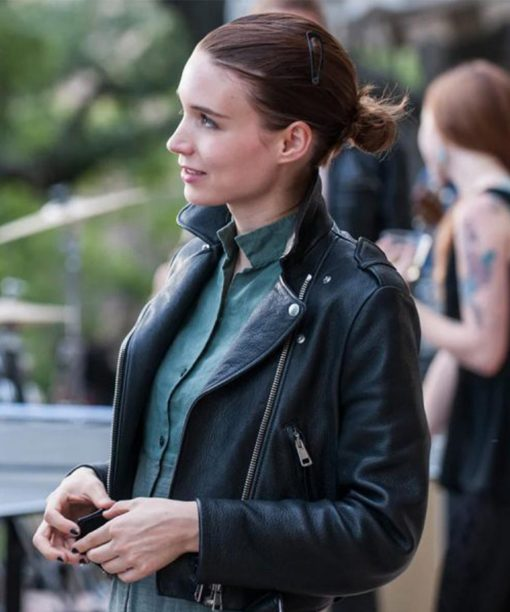 Rooney Mara Song To Song Faye Motorcycle Leather Jacket