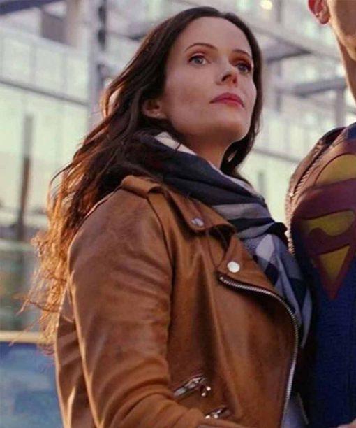 Elizabeth Tulloch Supergirl Leather Jacket