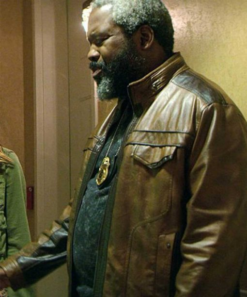Teenage Bounty Hunters Kadeem Hardison Brown Leather Jacket