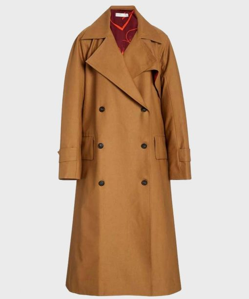The Baker And The Beauty Nathalie Kelley Tan Trench Coat