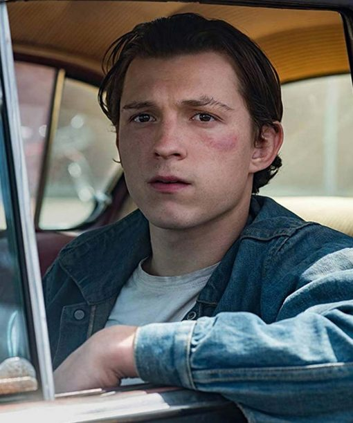 The Devil All the Time Tom Holland Denim Jacket