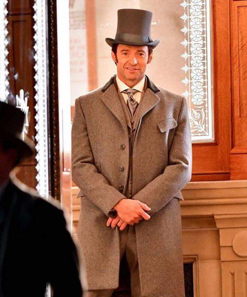 Hugh Jackman The Greatest Showman P.T. Barnum Grey Coat