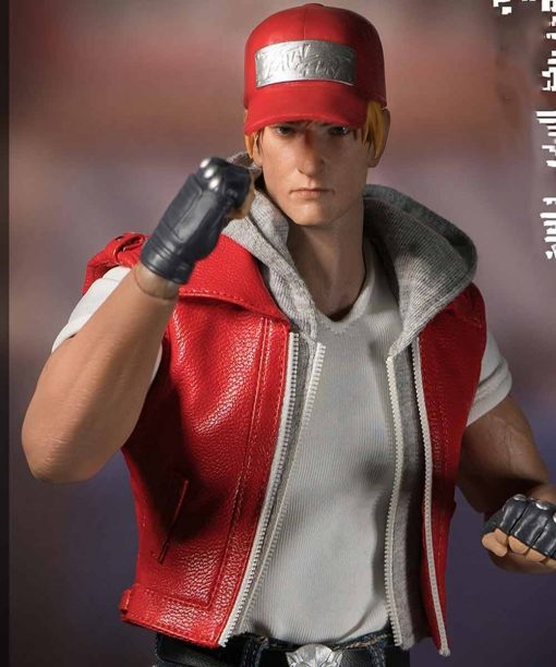 The Kings Of Fighters Terry Bogard Orange Hooded Leather Vest