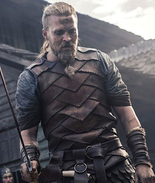 Tobias Santelmann Brown Leather Vest