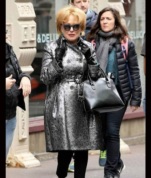 Bette Midler The Politician Hadassah Gold Silver Leather Coat