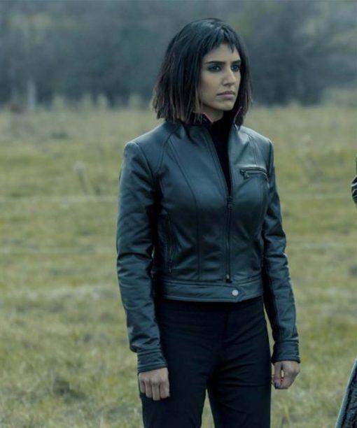 The Umbrella Academy S02 Ritu Arya Leather Lila Pitts Jacket
