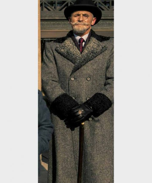 The Umbrella Academy S02 Sir Reginald Hargreeves Grey Double-Breasted Colm Feore Trench Coat