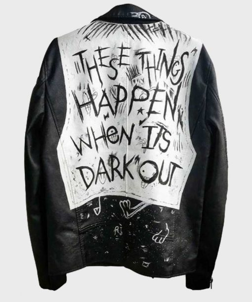 These Things Happen When It's Dark Out Motorcycle Leather Jacket
