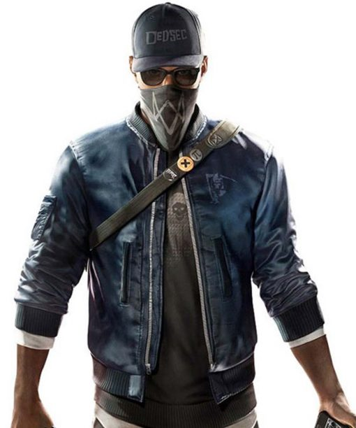 Watch Dogs 2 Marcus Holloway Blue Bomber Jacket