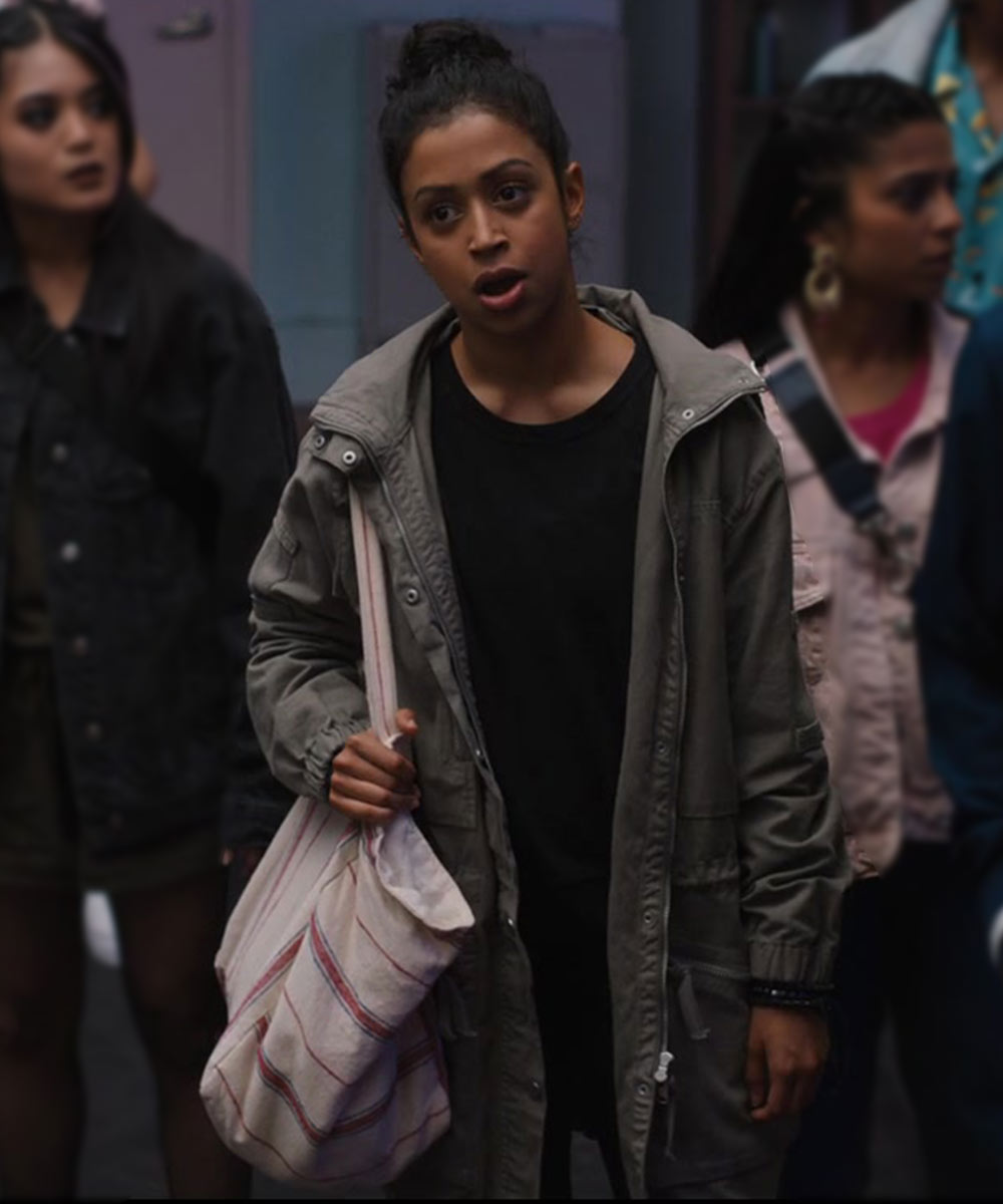 Work It Jasmine Hale Coat Liza Koshy Grey Coat