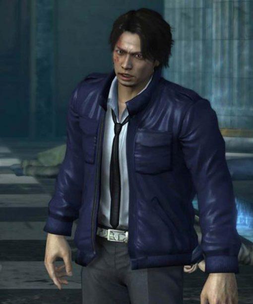 Yakuza 4 Masayoshi Tanimura Blue Leather Jacket