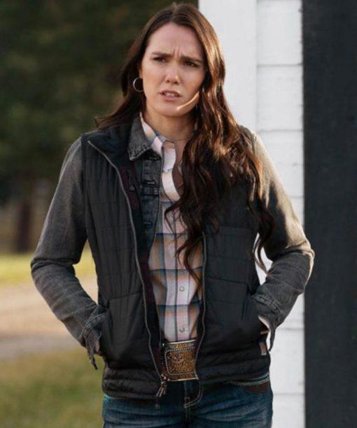 Yellowstone S03 Eden Brolin Black Jacket