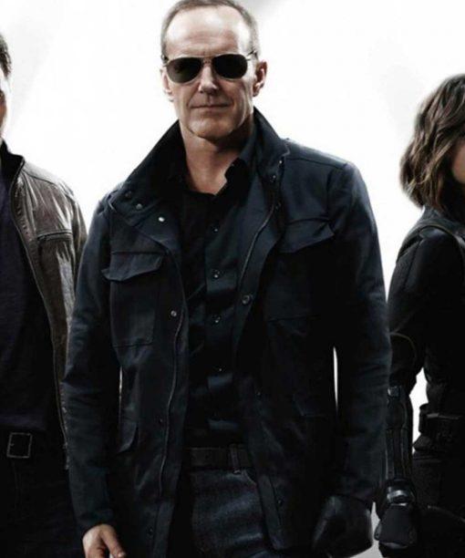 Agents of Shield Clark Gregg Black Jacket