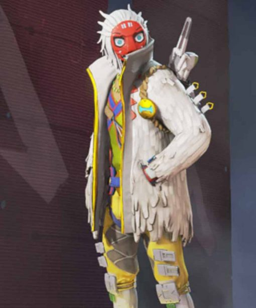 Apex Legends S03 Crypto The Masked Dancer Leather Jacket