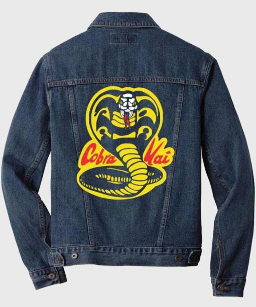 Karate Kid Cobra Kai Blue Denim Jacket