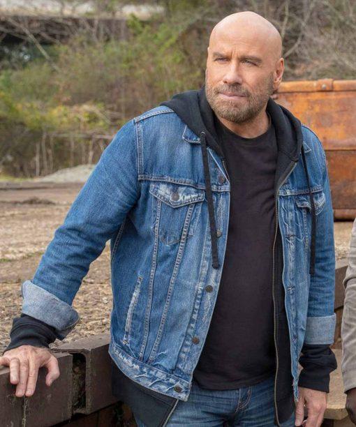 Die Hart John Travolta Denim Jacket