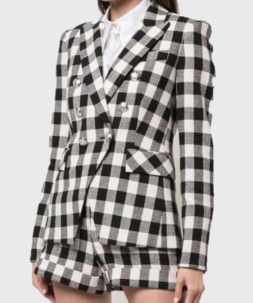 Emily Cooper Emily in Paris Checkered Blazer