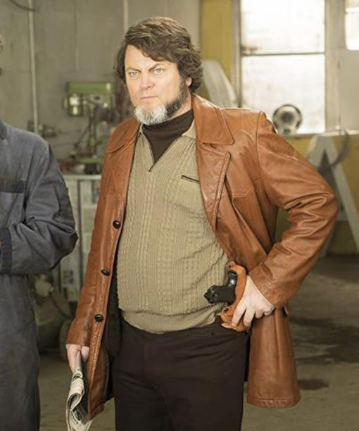 Nick Offerman Fargo Leather Jacket