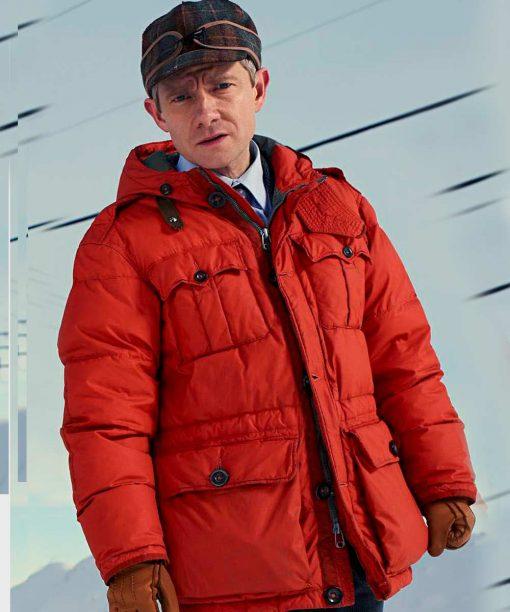 Martin Freeman Orange Jacket