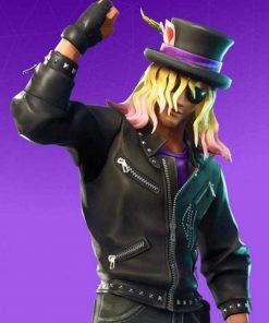Fortnite Stage Slayer Black Leather Jacket