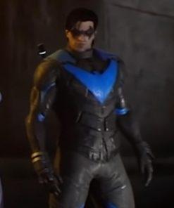 Gotham Knights Nightwing Slimfit Leather Jacket