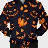 Pumpkins Pattern Halloween Bomber Jacket