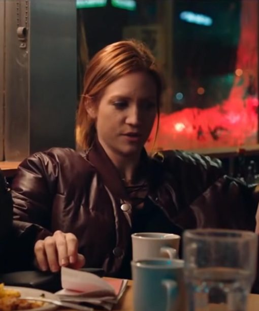 Brittany Snow Hooking Up Puffer Jacket