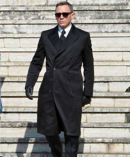 Spectre Daniel Craig Black Trench Coat