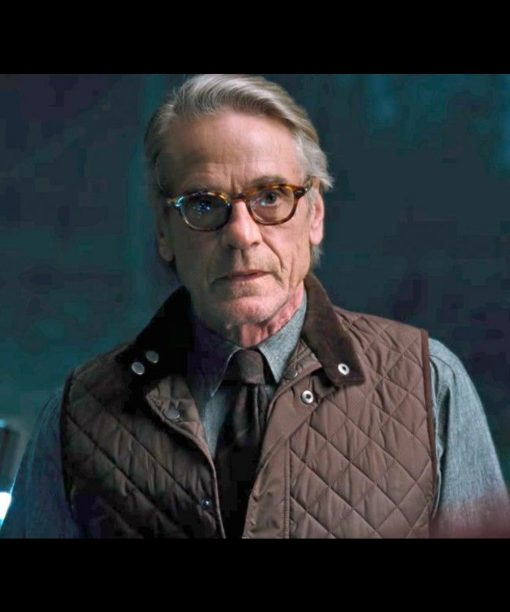 Jeremy Irons Justice League Quilted Jacket