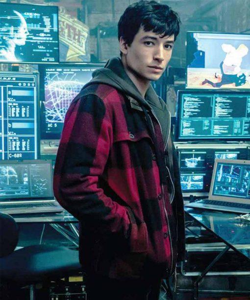 Barry Allen Justice League Red Plaid Jacket