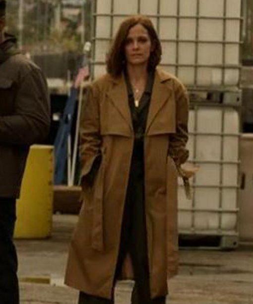 L.A.'s Finest Rebecca Budig Brown Long Coat