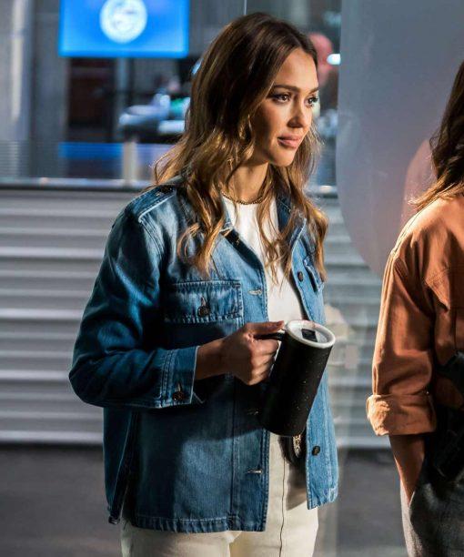 L.A.'s Finest Jessica Alba Denim Jacket