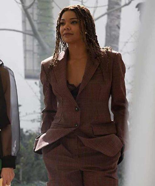 L.A.'s Finest Gabrielle Union Brown Blazer