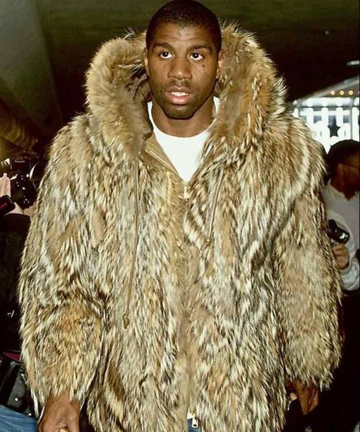 Magic Johnson Hooded Fur Coat