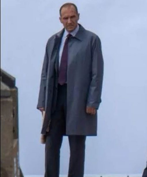 No Time to Die Ralph Fiennes Mid-Length Coat