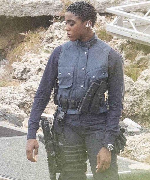 No Time to Die Lashana Lynch Black Vest