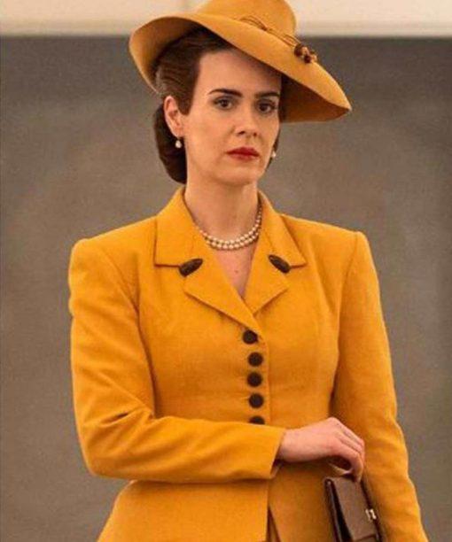 Ratched Sarah Paulson Yellow Blazer Coat