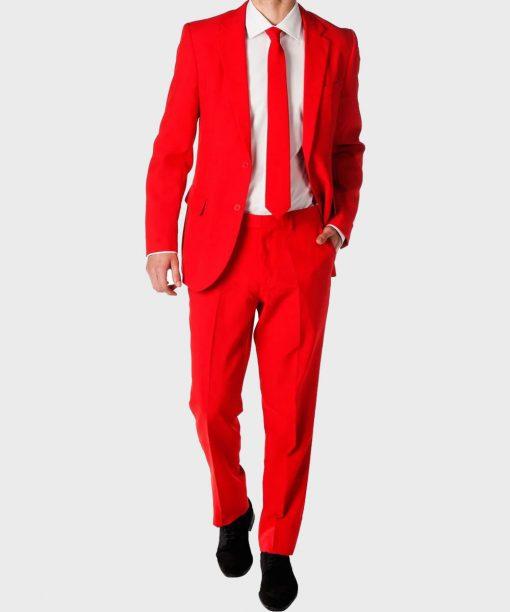 Classic Mens Red Devil Suit