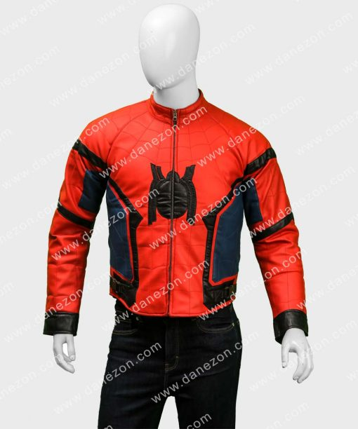 Spider-Man Homecoming Slimfit Leather Jacket