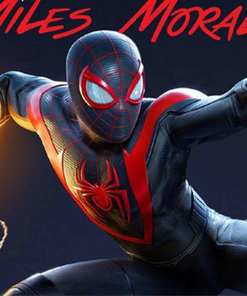 Spider-Man Miles Morales Slimfit Leather Jacket
