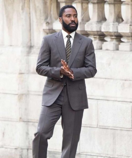 Tenet John David Washington Grey Suit