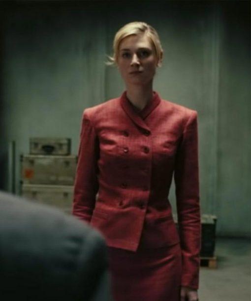 Elizabeth Debicki Tenet Kat Red Coat