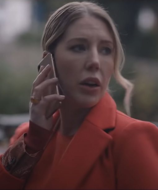 Katherine Ryan The Duchess Orange Coat