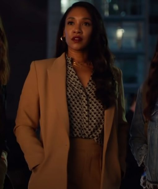 The Flash Candice Patton Brown Coat