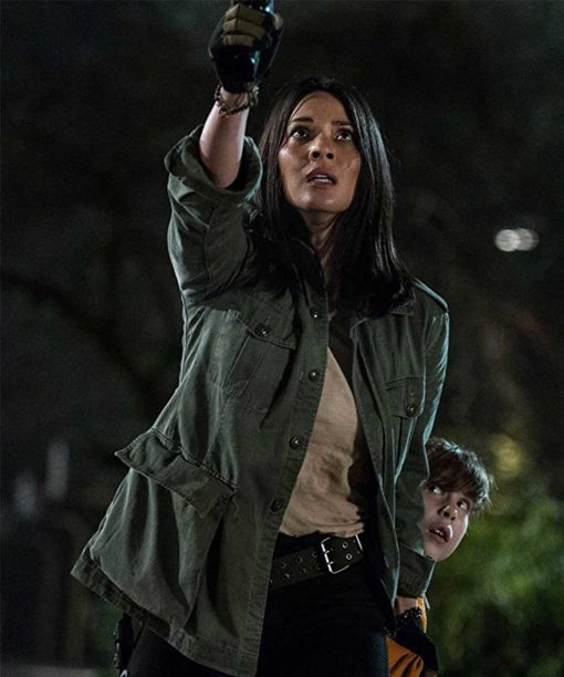Olivia Munn The Predator Green Jacket