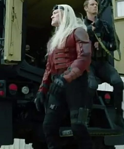 Savant The Suicide Squad 2 Red Leather Jacket